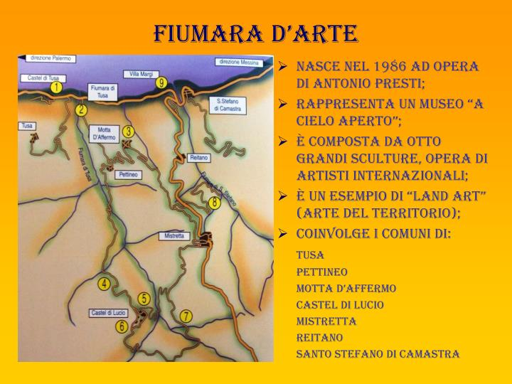 Mappa della fiumara d'arte